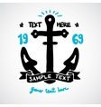Doodle anchor with place for your text vector image vector image