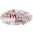 eyes word cloud concept vector image vector image