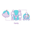 family concept icon vector image vector image