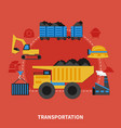 flat mining concept vector image vector image