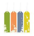 flower bookmarks vector image vector image