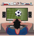 football fan in despair after goal vector image vector image