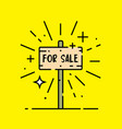 for sale line icon vector image vector image