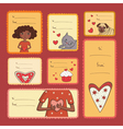 Gift tags with love vector image vector image