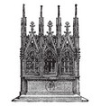 gothic altar is an erection the offering vintage vector image vector image