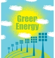 green energy concept with solar panels vector image
