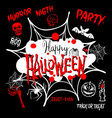 Halloween party Happy Halloween message design vector image
