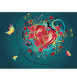 Hearts and Roses4 vector image vector image