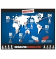 INFOGRAPHICS MAP TEMPLATE BLUE vector image vector image