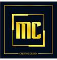 initial letter mc logo template design vector image