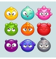 Jelly ball characters vector image vector image