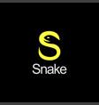 letter s for snake wordmark logo icon vector image vector image