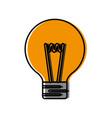 light bulb icon vector image vector image
