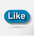 like icon flat style vector image vector image