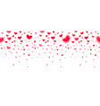 lovely red falling hearts in focus and in defocus vector image vector image