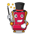 magician king throne mascot cartoon vector image