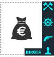 money bag icon flat vector image