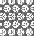 Monochrome three pedal flowers with dark triangles vector image