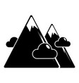 mountains icon simple black style vector image vector image
