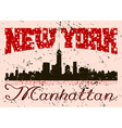 New York city Typography Graphic with grunge Retro vector image vector image