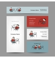 Peoples working at office business cards for your vector image vector image
