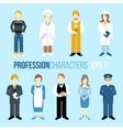 Proffession characters set vector image
