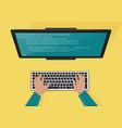 programming web development concept programmers vector image