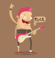 Punk rock guitar player vector image