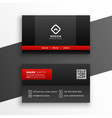 red and black dark business card template design vector image vector image
