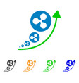 ripple inflation trend icon vector image vector image