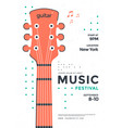 rock poster design with stylized guitar vector image