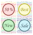 sale emblems vector image