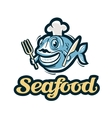 seafood logo fish fishing or restaurant vector image