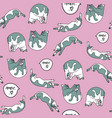 seamless pattern with sleeping cats vector image vector image