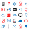 set of 25 icons internet of things vector image