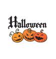 set of cartoon halloween pumpkins gothic vector image vector image