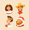 set of characters vector image vector image