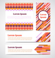 Set of modern striped abstract poster banners vector image vector image