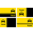 set taxi background with place for text vector image