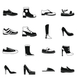 Shoe icons set in simple style vector image vector image