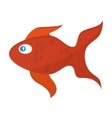 single goldfish icon vector image