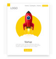 space rocket launch startup creative idea vector image vector image