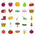 stockyard icons set cartoon style vector image vector image