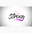 strong handwritten word font with vibrant violet vector image vector image