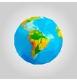 The globe icon Globe symbol Geometric polygonal vector image