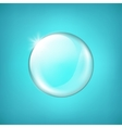 Transparent glass sphere with glares and highlight vector image vector image