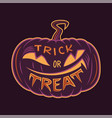 trick or treat card design vector image vector image