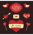 Valentines Day Retro Collection vector image vector image