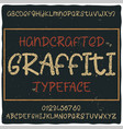 vintage label typeface named graffiti vector image vector image