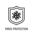 virus protection icon on white background vector image
